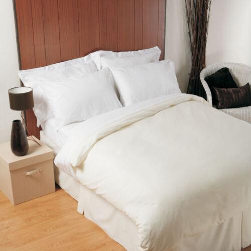 200 fils au pouce en polycoton housses de couette et taies d/'oreiller toutes tailles en blanc