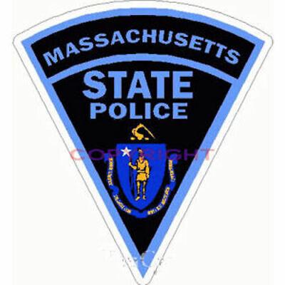 State of Massachusetts Flag Reflective Decal Bumper Sticker