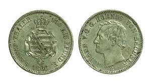 pcc1054-2-GERMANIA-SASSONIA-Johann-1854-1873-1-6-di-tallero-1866