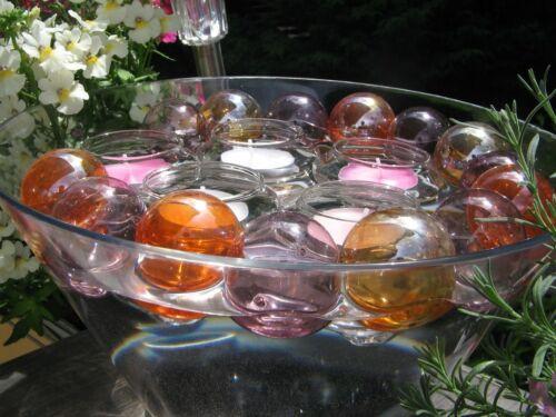 5-24 Glas Schwimmkerzenhalter Schwimmkerze Schwimmschale Kerzenhalter