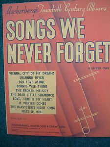"""""""chansons Qu'on N'oublie Jamais"""" No.1 Vintage Music-afficher Le Titre D'origine Grandes VariéTéS"""