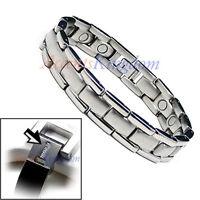 Accents Kingdom Men's Magnetic Therapy Power Titanium Golf Bracelet T12
