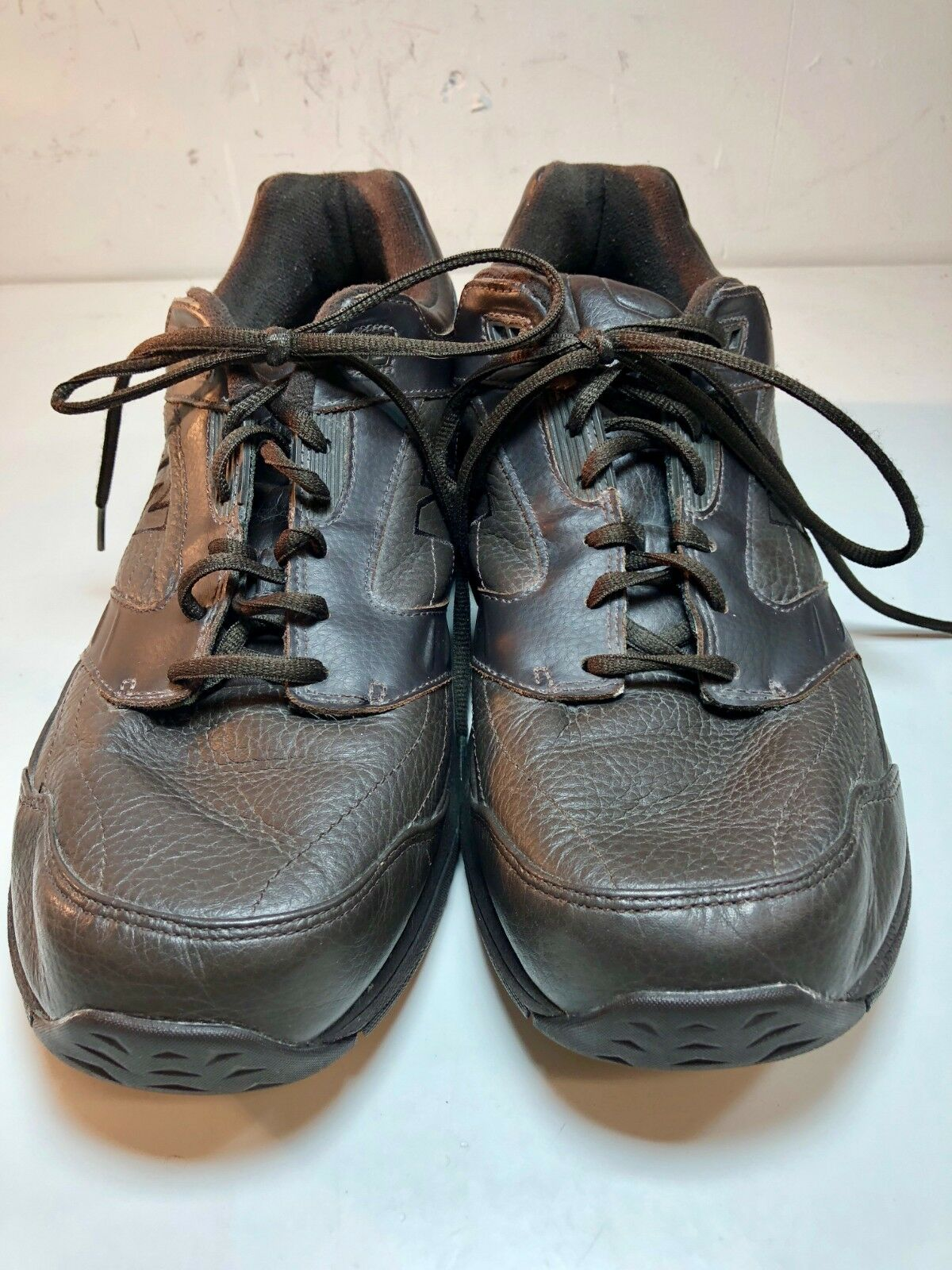 New Balance Mens 926 Brown Leather Walking shoes Sneakers Abzorb SBS Size 13 EE
