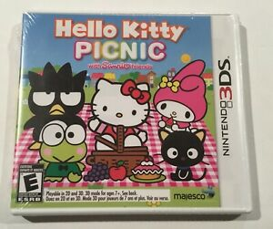 Hello-Kitty-Picnic-Nintendo-3DS-Authentic-Tested-CIB-COMPLETE-SEALED