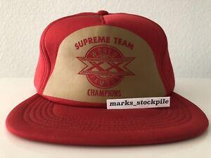 SUPREME X STARTER SUPREME TEAM WORLD CHAMPIONS SNAPBACK CAP HAT