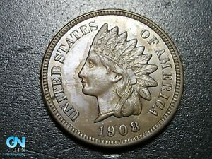 1908-Indian-Head-Cent-Penny-MAKE-US-AN-OFFER-B2681