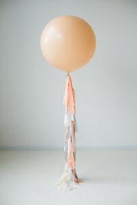 Balloon-tail-tissue-paper-tassel-garland-36-inch-balloon-tail-custom-colors