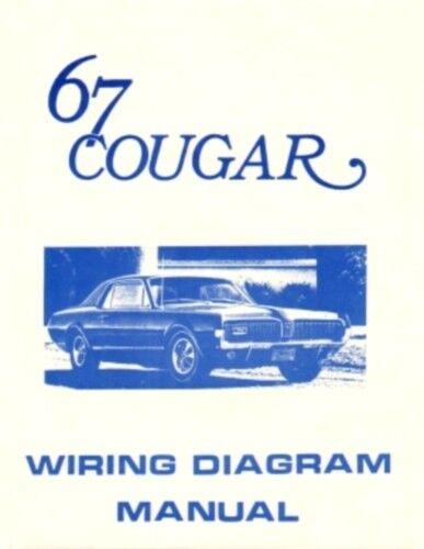 COUGAR 1967 Wiring Diagram Manual 67
