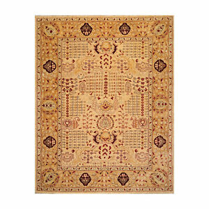 "8'2"" x 10'6"" Hand Knotted 100% Wool Peshawar Traditional Oriental Area Rug Gold"