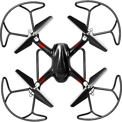 Alta Black Quadcopter LED Covert RC Drone with 2.4GHZ 4 Channels Remote Control