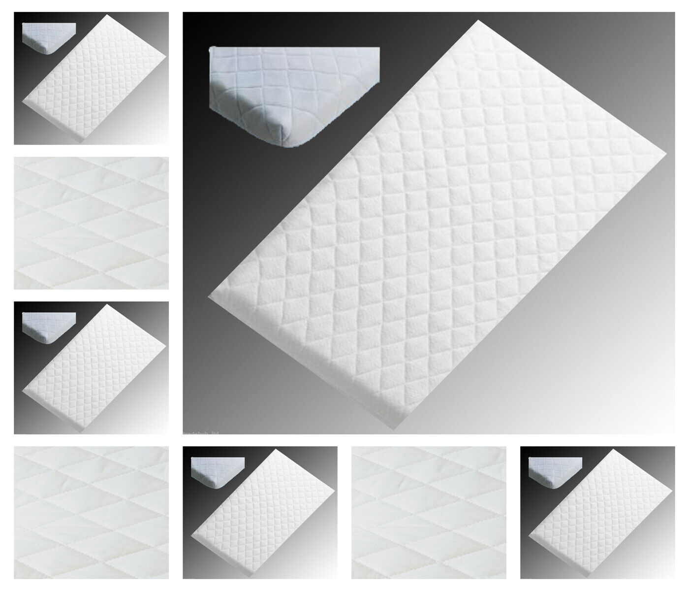 87 X 40 X 4 cm Baby Toddler COT Crib Bed Breathable Quilted and Waterproof Foam Mattress Crib Mattress Nursery Baby Breathable Waterproof Cradle Pram Swing Size