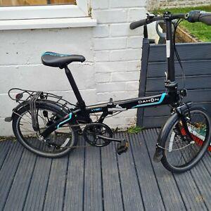 Dahon, vybe C7A folding city bike, black and blue female and male bike