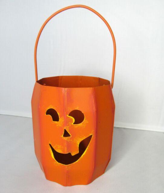 Jack O Lantern Tin Bucket