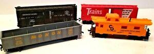 Southern Pacific, Trains Magazine, Monon and Chesapeake & Ohio Rail Road Cars HO