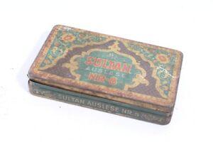 Ancienne-Boite-de-Conserve-Old-Vintage-Sultan-Boite-Collector-Vide-Lecture-No-8