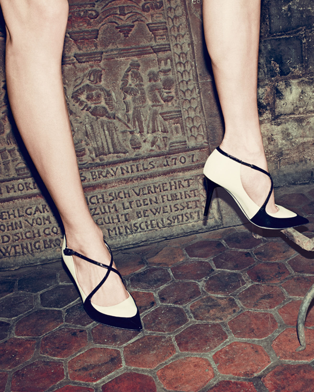 Jimmy Choo    madera  entrecruzadas de punto Toe Bomba, Desnudo Zapatos Negros 39.5 - 9  para barato
