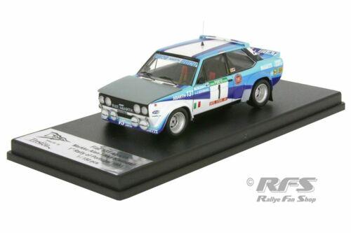 Fiat 131 Abarth Alen Crashed Version Rallye Portugal 1981 1:43 Trofeu NEU