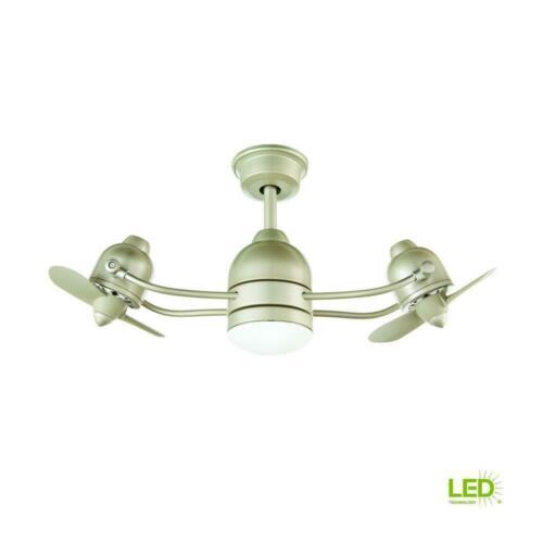 Home Decorators Collection Acworth 36 in. LED Indoor/Outdoor Sliver Ceiling Fan