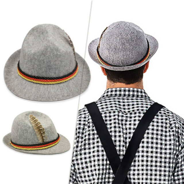 Weihenstephan Grey Bavarian Oktoberfest German Beer Festival Costume Fancy Hat