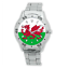 Men-039-s-Football-Wales-Flag-Country-Welsh-Watch-Stainless-Steel-Bracelet-Strap thumbnail 1