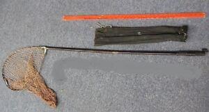 Vintage Fisherman 3 Piece Take Apart Fishing Net with Storage Pouch