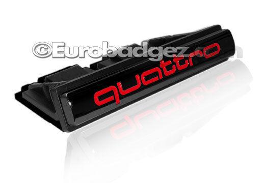 1 - NEW AUDI Quattro A Series Badge Emblem Front Mount (QUATTRO Gloss Black FM)