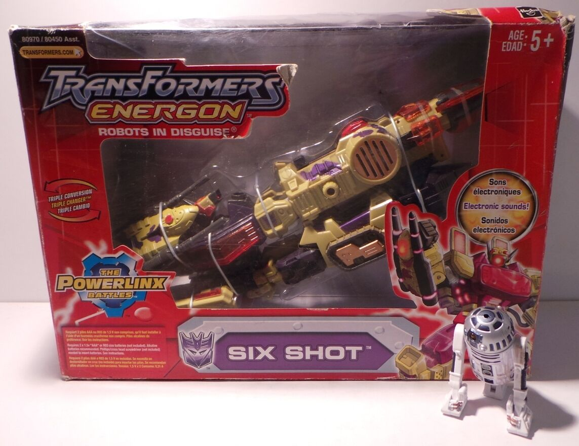 TRANSFORMERS     SIX SHOT FIGURE FROM THE ENERGON ROBOTS IN DISGUISE BY HASBRO 3e7b45