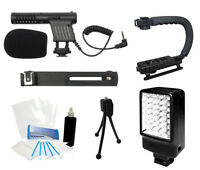 Starter Shotgun Microphone Mic Camcorder Kit Panasonic Hc-x910 Hc-v720 Hc-720m