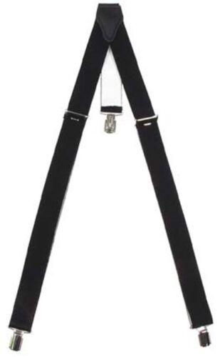 Hosenträger Y-Form 3 Clip Breite 3,5cm starkes Gummiband 120cm schwarz #21-1