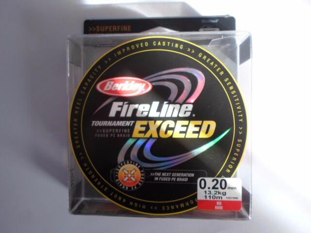TRESSE berkley fireline tournament exceed 110m 0.20mm 13,2 kg rouge