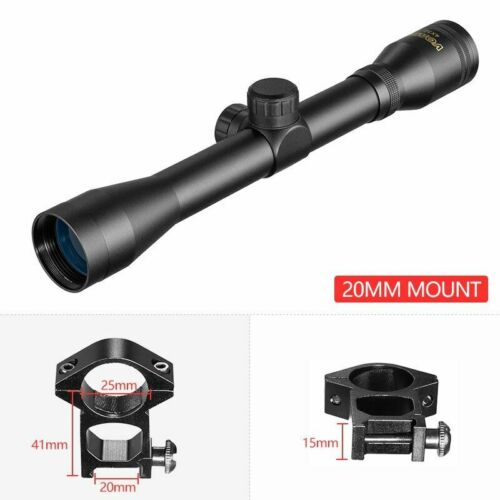 4x32 Hunting Optical Hare Short Air Rifle Scope Tactical Sight Sniper Shooting