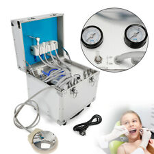 Dental Portable Delivery Unit Rolling Box Cart Dental Unit Equipment 4 Hole Kit