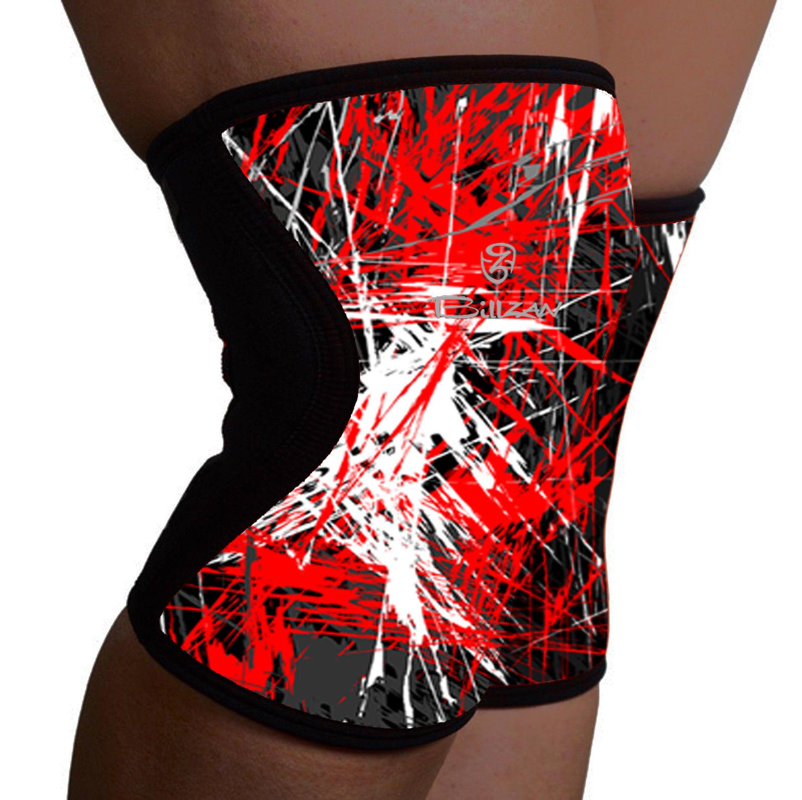 Neoprene Knee Support Brace MMA Pad Predector Gel Sport Power Weightlifting PAIR