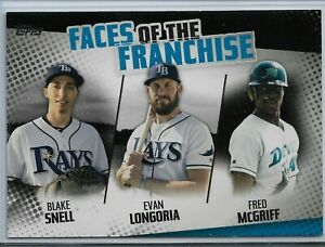 2019 Topps Series 2 Baseball Faces of the Franchise Black Tampa Bay Rays 105/299