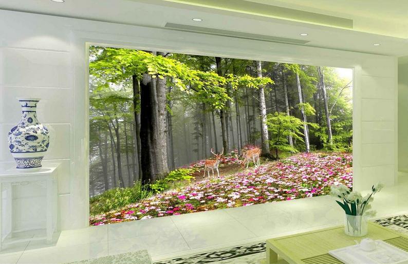 3D Deer Animal 4105 Wallpaper Murals Wall Print Wallpaper Mural AJ WALL UK Carly