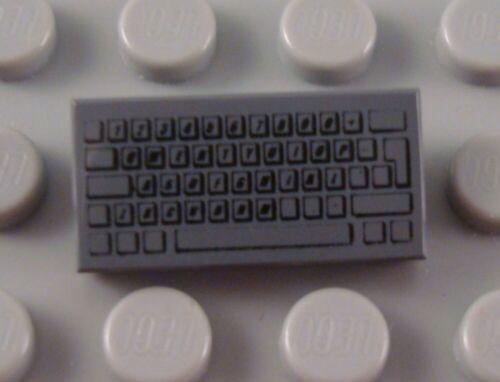 LEGO Dark Bluish Gray 1x2 Computer Keyboard Tile
