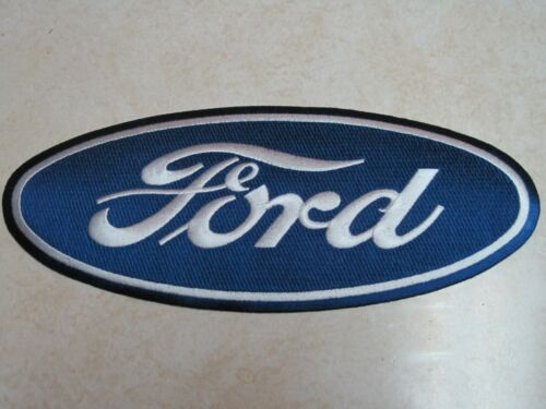 FORD LARGE CLOTH PATCH BACK SIZE BLUE HOT ROD RACING F150 F250 JACKET COVERALL