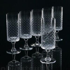 6x-Rosenthal-Romanze-Weinglaeser-Weisswein-Glaeser-15cm-B-Wiinblad-Kristallglas