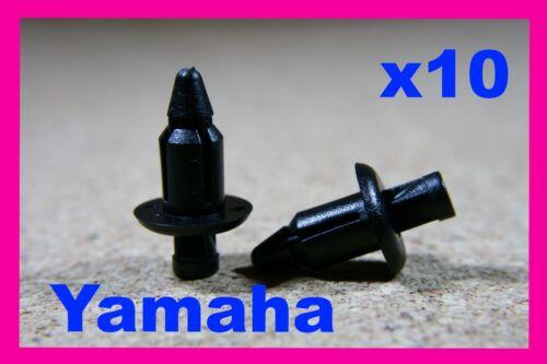 10 Yamaha motor cycle motor bike fairing panel trim push rivet pin clips 6mm