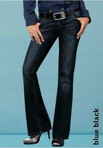 4Wards Jeans Gr.36 NEU Hose Denim Stretch Bootcut Blue Black Used Flare W28 L32