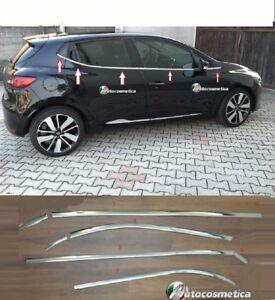 modanature-8pz-Cromate-sotto-finestrini-Acciaio-Renault-Clio-IV-5p-raschiavetri