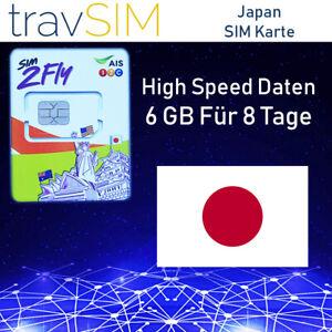 Japan Sim Karte.Details Zu Japan Prepaid Daten Sim Karte Sim2fly Mit 6 Gb Für 8 Tage