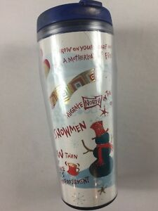 Starbucks-Tumbler-2006-Hologram-Snowman-Christmas-Tree-16oz-Winter-Icy-Scarf-Cup