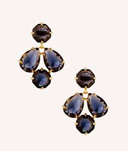 Kate Spade Kaleidoscope Gem Sapphire Slate Coated Setting Drop