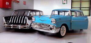 G-LGB-1-24-Echelle-1957-Chevrolet-Chevy-Bel-Air-Nomad-Break-Voiture-Modelisme