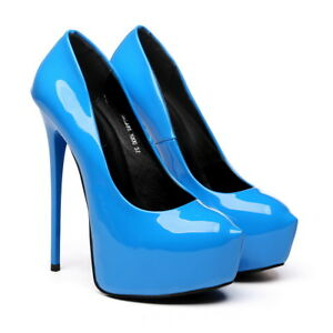 Giaro GALANA  blue stiletto platform pumps !NEW!