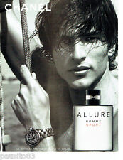 PUBLICITE ADVERTISING 046  2004  Chanel  parfum Allure homme Sport