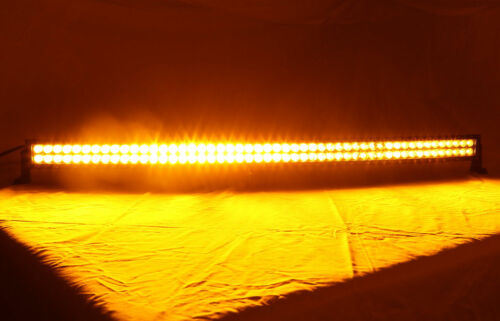 """Dual Color 22/"""" 120W Amber//White Led Curved Work Light Bar Driving Offroad Strobe"""