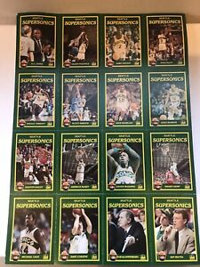 SEATTLE-SUPERSONICS-1990-91-Player-Cards-UNCUT-SHEET-KJR-RADIO-SMOKEY-THE-BEAR