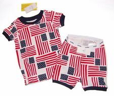 NWT BABY GAP Patriotic 2 pc FLAG Shorty PAJAMAS Unisex Boy or Girl Size 5 yrs